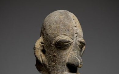 DJENNE, Mali. Terracotta digging head with nervous and...