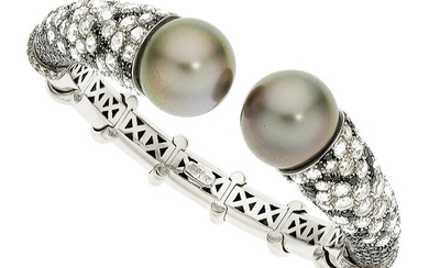 Diamond, Colored Diamond, Black South Sea Cultured Pearl, White...