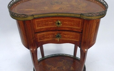 EARLY TWENTIETH CENTURY FRENCH GILT MOUNTED AND MARQUETRY IN...