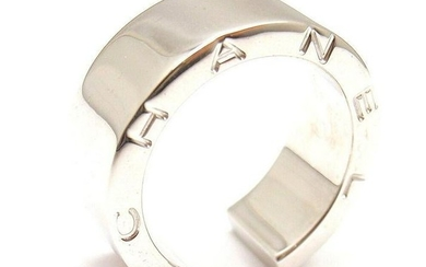 ELEGANT and STYLISH. CHANEL 18K WHITE GOLD SMOOTH OPEN
