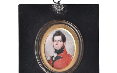 English School (first quarter 19th century) Portrait of an officer in the Royal Staff Corps