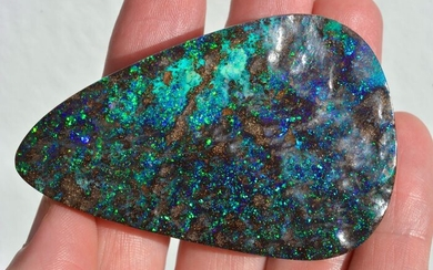 Extraordinary Opal Boulder Pinpoint Cabochon - 70×45×9 mm - 56 g
