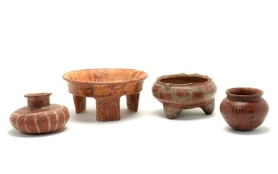 Four Pieces of Pre-Columbian Pottery.