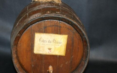 French Cote de Rhone wine barrel