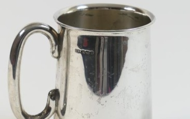 George V silver pint tankard, by Edward Viners, Sheffield...