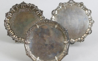 Group of (3) 18th century English sterling silver
