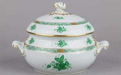 Herend Chinese Bouquet Green Soup Tureen #28/AV II.