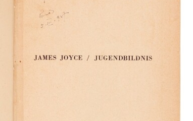 JOYCE | Jugendbildnis [A Portrait of the Artist as a Young Man], [1926], signed by the author in 1927
