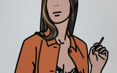 Julian Opie - Ruth with cigarette1