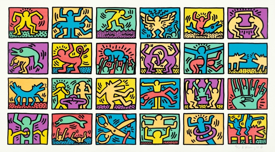 KEITH HARING | RETROSPECT (LITTMANN P. 120-121)