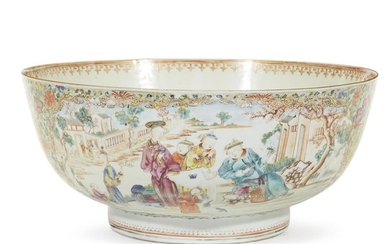 Large Chinese Export porcelain punch bowl 18th century The...