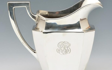 Large Sterling Silver Water Pitcher.