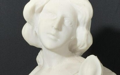 Marble Bust Sculpture of Woman