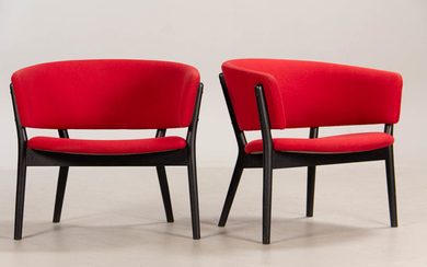 Nanna Ditzel. A pair of lounge chairs, model ND83 (2)