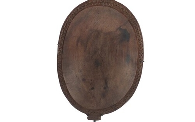 Oceanic tribal interest Massim shallow bowl with carved bord...