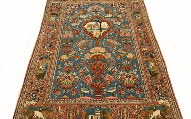 PERSIAN KASHAN HAND WOVEN FINE WOOL RUG