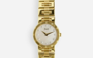 Piaget, Lady's 'Dancer' gold and diamond wristwatch