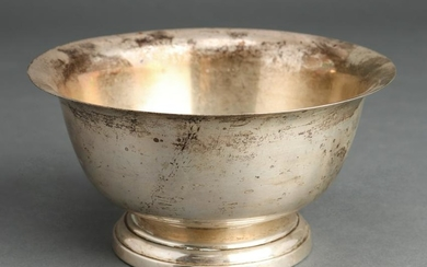 Poole Sterling Silver Paul Revere Footed Bowl