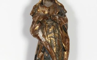 Religious Figure IV, Hand-Carved and Painted Wood