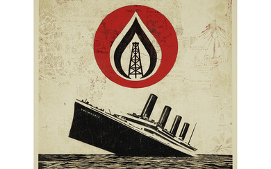 SHEPARD FAIREY (né en 1970) UNSINKABLE CONSUMPTION, 2015...