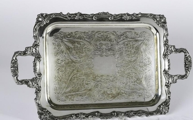 SHERIDAN SILVER PLATED PRESENTATION TRAY