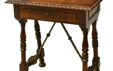 SPANISH BAROQUE STYLE WALNUT SIDE TABLE