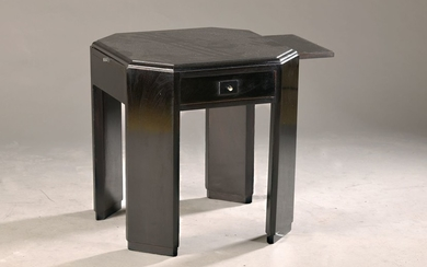 Side table/small table, France, 1940s, wood black...
