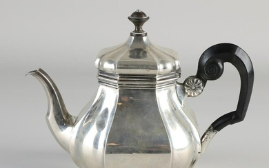Silver pitcher, 833/000, cardinal model, fitted with a