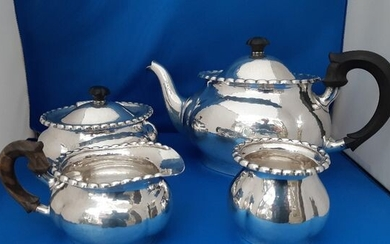 Tea service (4) - .835 silver - Sweden - Early 20th century