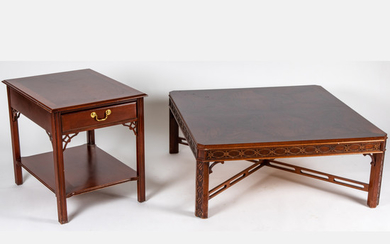 Two Chinese Chippendale Style Mahogany Tables