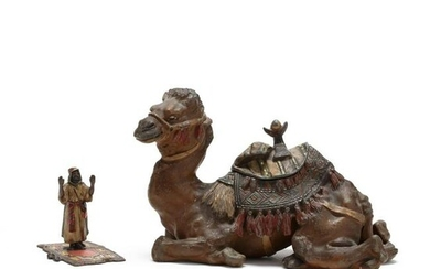 Two Cold-Painted Orientalist Desk Accessories