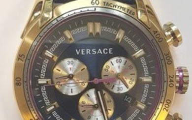 Versace - V-RayGold-Tone Watch navy - VDB030014 - Men - 2011-present