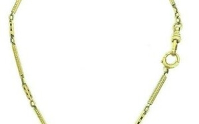 Victorian 14K Yellow Gold Watch Chain Necklace