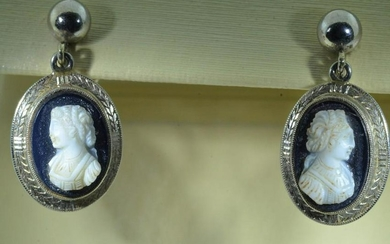 Victorian Hand Carved Cameo and Hand Engraved Frame
