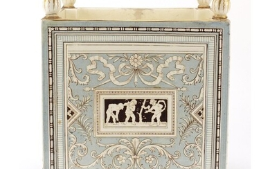 Victorian aesthetic jardinière by Minton decorated with pane...