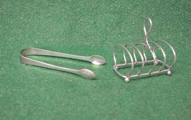 Victorian five bar silver toast rack, marked for Birmingham ...