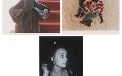 WOLFGANG TILLMANS (B. 1968), (i) grey jeans over stair post, 1991; (ii) Lutz, Alex, Suzanne and Christoph on Beach, 1993; (iii) Young Woman, Chemistry, 1992