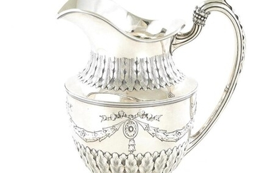 William IV sterling silver pitcher, Thomas Wallis & Jonathan Haynes
