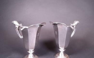 jugs (2) - Silver - Tetard Fres - France - Early 20th century