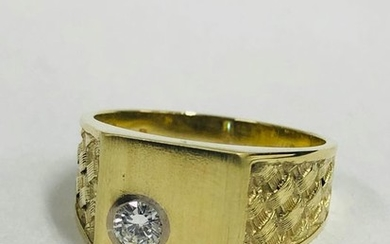 14 kt. Gold, Yellow gold - Ring - 0,20 ct Diamond