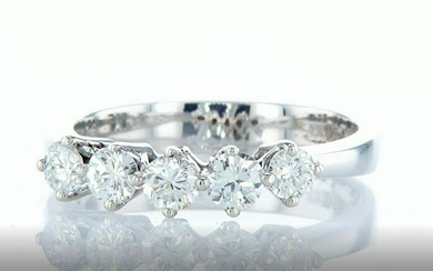 14 kt. White gold - Ring - Diamonds