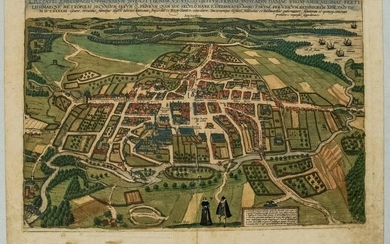 1593 Braun and Hogenberg Birds Eye View of Odense