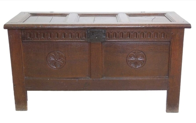 17th century oak jointed coffer