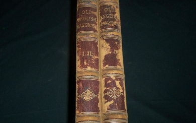 1841-1848 STUDIES FROM OLD ENGLISH MANSIONS FURNITURE