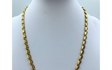 18ct yellow and white Gold designer Necklace, weight 44.7g a...