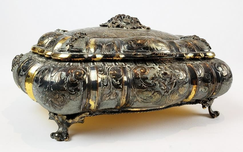 18th C. Gilt 800 Silver Austrian Box