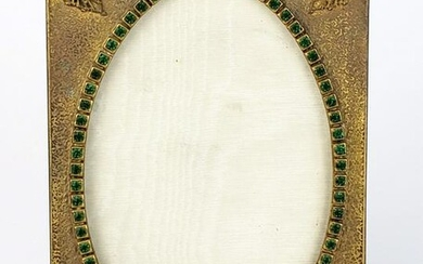 19th C. Bronze Jewelled Photo Frame