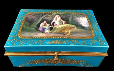 19th C. Sevres French Porcelain Jewelry Box