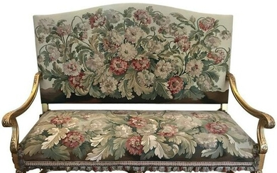 19th Century Regence Style Gilt-wood And Tapestry