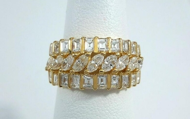2.78ct Diamonds on Yellow Gold Ring